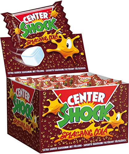 Center Shock Splashing Cola I 1 Box mit 400 g Kaugummis I Cola-Geschmack extra-sauer