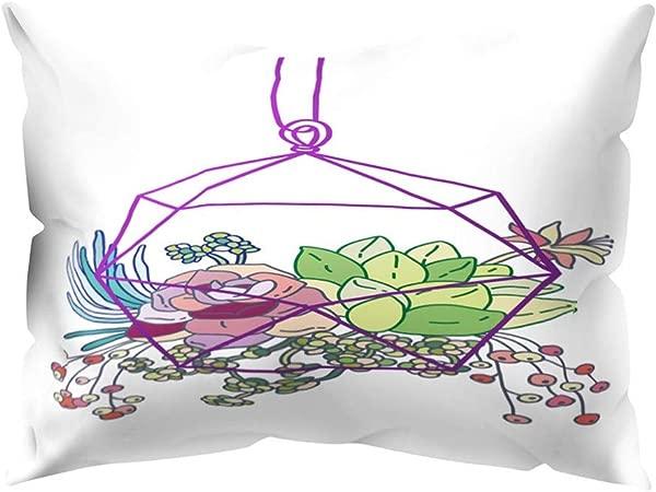 ZhixiaYS Print Pillow Case Polyester Sofa Car Cushion Cover Home Decor Polyester Pillow Cover 11 81x 19 68