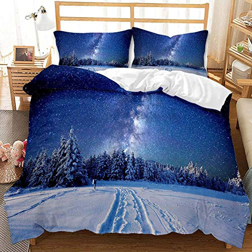 Cttfbys mtsubllk Planet space bedding set, 3D printed Mars astronaut duvet cover and pillowcase, suitable for themed bedroom and apartment-I_200*230cm(3pcs)