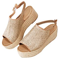 003f189a5e68c Wedge summer peep toe shoes - Casual Women's Shoes