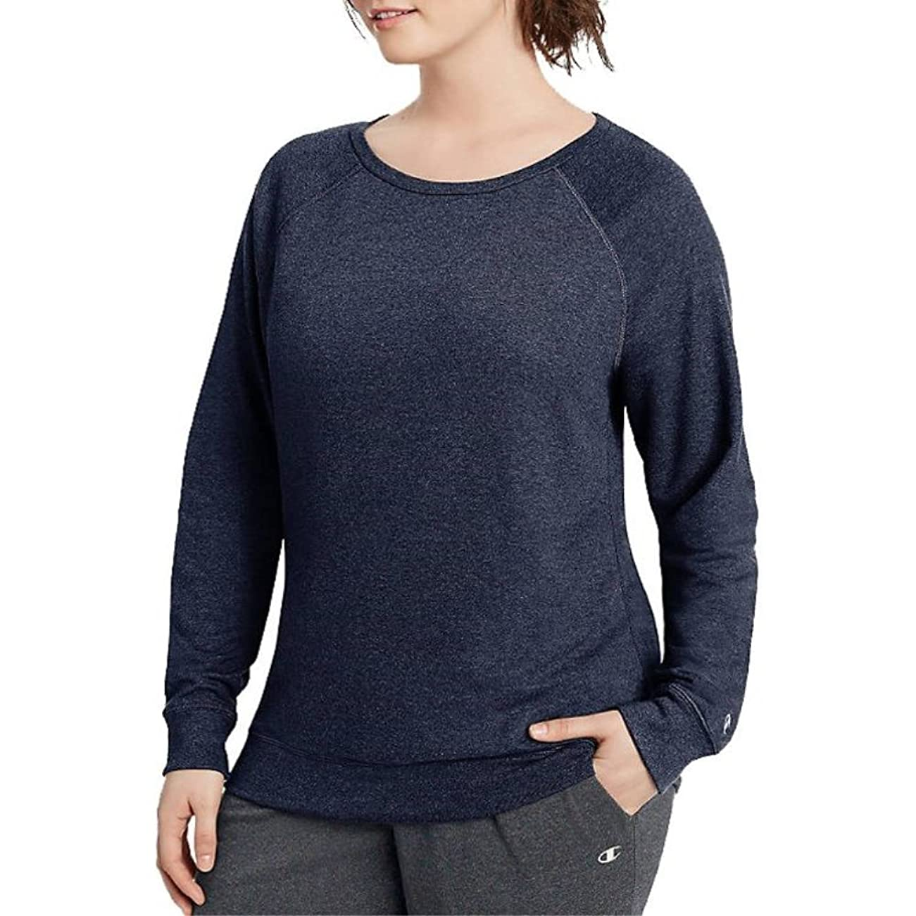 立方体逆さまにオーナメント(チャンピオン) Champion レディース トップス Tシャツ Champion Plus Size French Terry Sweatshirt [並行輸入品]
