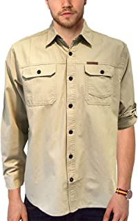 Original Outfitters Brushed Poplin Long Roll-Up Sleeves Shirt