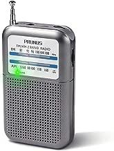 DE333 AM/FM Portable Radio Mini Pocket Radio, Tuning Knob with Signal Indicator, AAA Battery Operated, by PRUNUS