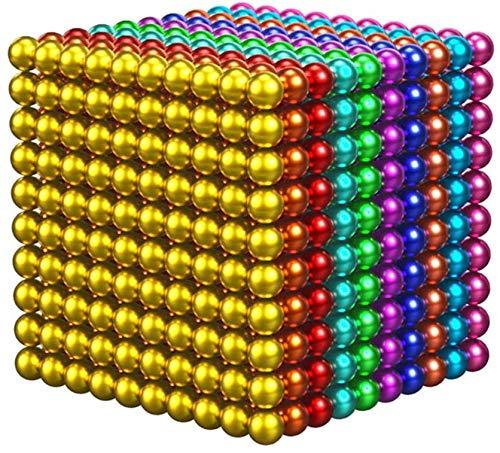 GFKD Juego de bolas de construcción magnéticas, 5 mm, cubo de Rubik rojo, avanzado, suave, cubo de Rubiks con múltiples combinaciones de formas esféricas para aliviar el estrés, 216 unidades