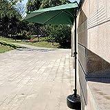 CCLLA Sombrilla al Aire Libre de 9 ', semicircular, sombrilla de Pared, sombrilla con 5 Costillas y manivela, Refugio Solar...