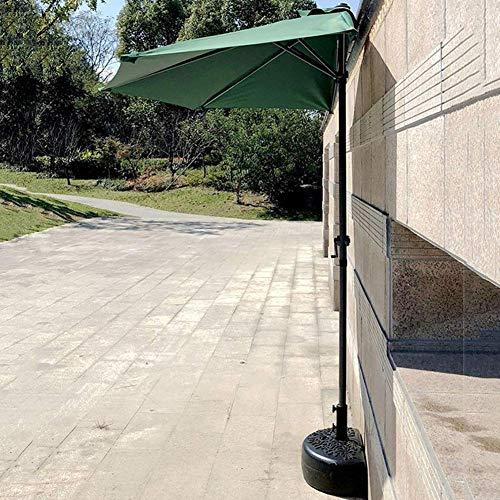 Gartenschirme Außenterrasse 9 'Halbrunder Regenschirm, Wandschirm Sonnenschirm mit 5 Rippen & Kurbel, Sonnenschutz für Markttischdeck Garten