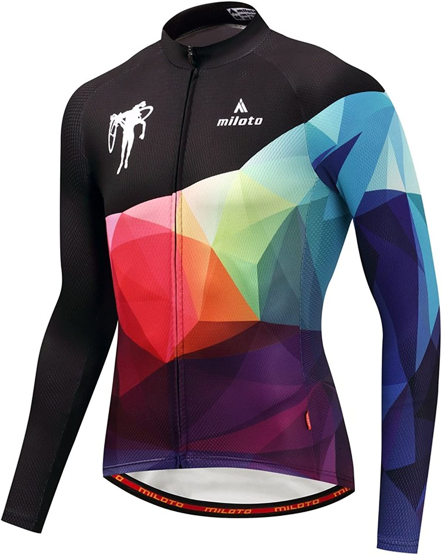 Uriah Men's Cycling Jersey Thermal Fleece Long Sleeve Reflective