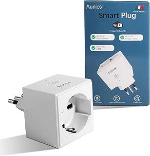 Presa Smart Aunics Presa Alexa Italiana Compatibile con Amazon Alexa, Google Home, IFTTT, Presa Intelligente, 16A, Control...