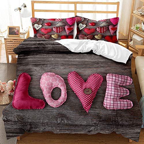SHJIA Love Bettbezug Digit Print...