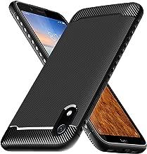 Ferilinso Funda para Xiaomi Redmi 7A, Funda Protectora a Prueba de choques Flexible diseño de Fibra de Carbono Cubierta para Funda Xiaomi Redmi 7A (Negro)