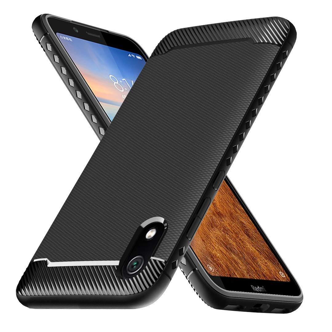 Ferilinso Funda para Xiaomi Redmi 7A, Funda Protectora a Prueba de choques Flexible diseño de Fibra de Carbono Cubierta para Funda Xiaomi Redmi 7A (Negro): Amazon.es: Electrónica