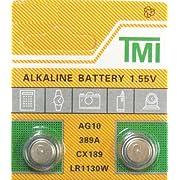 2 pack AG10 189 389 LR54 LR1130 Alklaine Button cell Battery