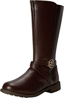 bebe Girl's Boots - Mid-Calf Riding Boots (Little Kid/Big Kid), Size 1, Brown'