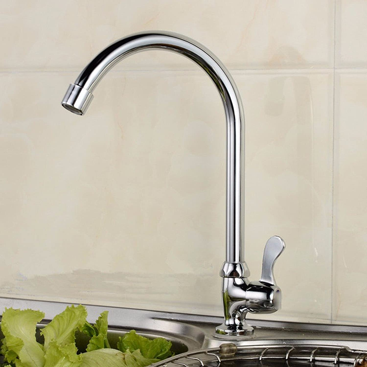 Commercial Single Lever Pull Down Kitchen Sink Faucet Brass Brass Brass Constructed Polished Single Copper Single Hole Faucet, Kitchen Single Cold Sink Sink Faucet, Ceramic Valve Spool redator f8e655