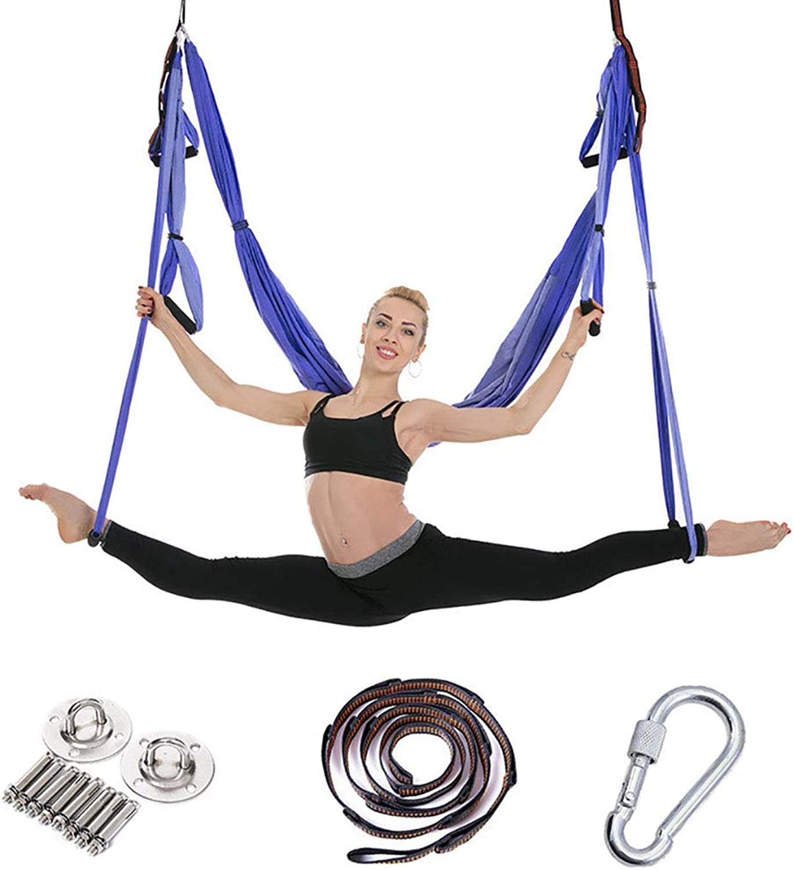 PUDDINGHH Aerial Yoga Schaukel - Ultra Strong Antigravity Yoga Hammock- Luft Trapeze Kit - Sling für Antigravity Yoga Inversion übungen - Montagezubehr Inklusive,10