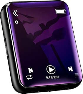 Bluetooth MP3 Player with Speaker, HIFI High-Fidelity Lossless Sound Quality Music Player, 2.0-Inch Full Touch Screen,Black
