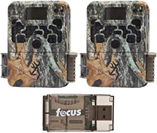 Browning Trail Cameras Strike Force Extreme 16 MP Game Cameras (2X) and Focus USB Reader Bundle