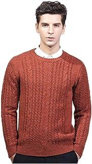 Beautyfine Knitting Sweaters Men's Autumn Winter Casual Long Sleeve Patchwork Tops Blouse