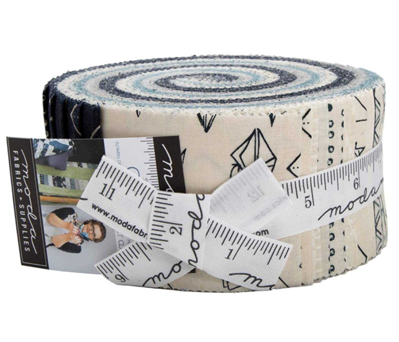 Origami Jelly Roll 40 2.5-inch Strips by Janet Clare for Moda Fabrics