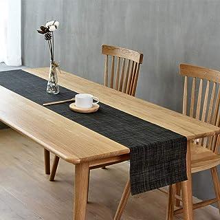 Hao-zhuokun Chemin de Table Lavable PVC tissé Chemin de Table de Cuisine Antidérapant Géométrie d'isolation Thermique Déco...