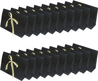 BBGSFDC 20 Paquete Bolsas de Regalo de Papel con Cinta de Arco Caja de joyería Portador Bolsa Favorito Bolsa Bolsas Bolsas...