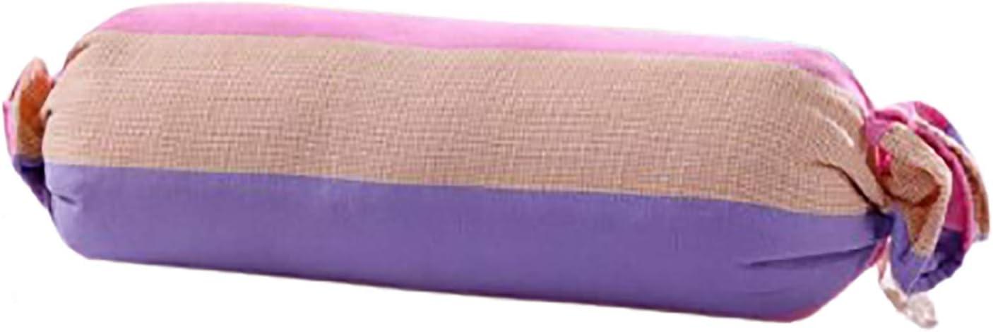 Almohada enrollable para el cuello, almohada para el cuello, almohada redonda de alforfón,almohada, almohada antivuelco para bebé, almohada para la pierna para cama y sofá G,50 * 16CM