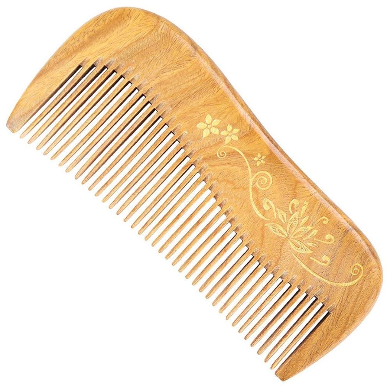 バレル雇用者故障Guomao 玉サンダルウッドの櫛彫りのタッチゴールド理髪櫛 (Size : 12.5*5.5*1.1 cm)