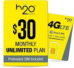 h2o $30/Month Plan - SIM Starter Kit Bundle