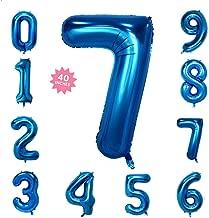 Best light blue number balloons Reviews