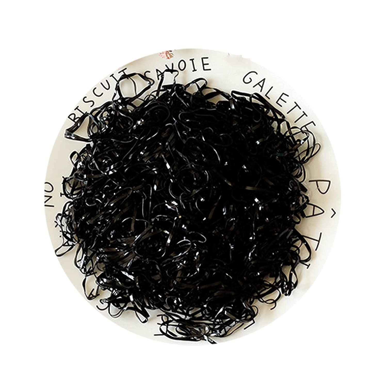 Baby Hair Ties Hair Rubber Bands for Toddler Infants Kids Girls Thin Small Hair Elastics 500 Piece /Pack(Black Color)