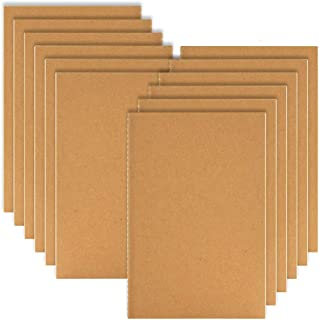 Coopay 12 Pack Journal Notebook Kraft Brown Cover Lined Notebooks for Travelers - A5 Size - 210 mm x 140 mm - 60 Lined Pages/ 30 Sheets