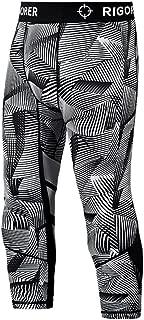RIGORER Herren Kompressions Baselayer 3//4/Leggings Cool Dry Laufen Strumpfhosen