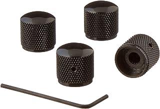 Kmise 4pcs Heavy Black Electric Guitar Bronze Dome Knobs