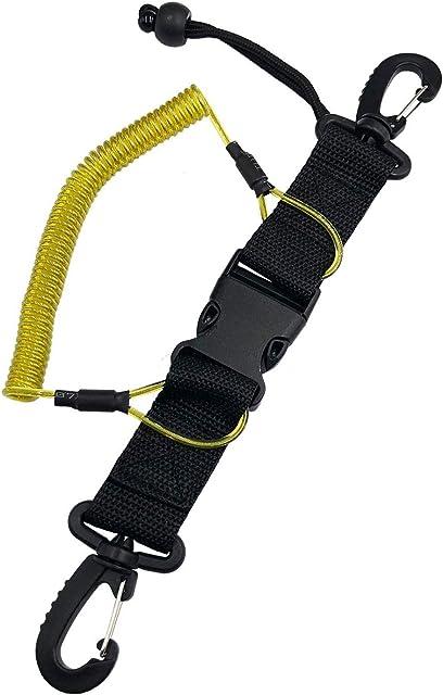 Fuwok XJS02 - Cordón en Espiral para Buceo Hebilla de liberación rápida Accesorios para cámara de fotografía submarina