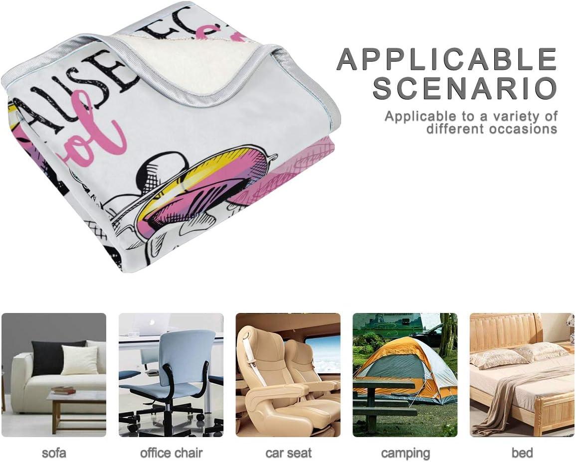 hengpai Couverture Douce pour lit et canapé Motif Chien 60 x 90 cm, Microfibre de Polyester, Multicolore 5, 60x90 in Multicolore 12