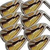 Japan Pron TRG 4-Sw Iron Mens Golf Club Set,21 Model,Chrome Finish,Matrix Stain Steel,A Flex,Graphite Shaft,Grip Mid,Plus 0.5 inches,Pack of 8