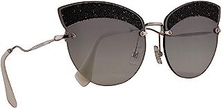Miu Miu MU58TS Sunglasses Silver w/Grey Gradient 65mm Lens U983M1 MU 58TS SMU 58TS SMU58T