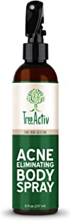 TreeActiv Acne Eliminating Body Spray Natural Body, Back, Butt, Chest and Shoulder Acne Treatment Salicylic Acid Tea Tree ...