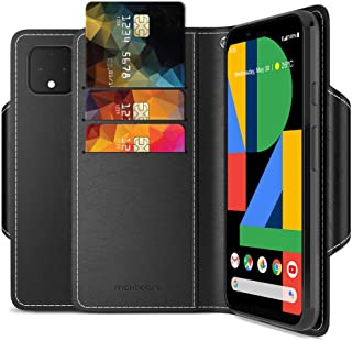 Maxboost mWallet Designed for Google Pixel 4 Case (2019, 5.7-inch) [Folio Cover] Premium PU Leather Credit Card Wallet Holder Compatible with Pixel 4 Flip Cover Side Pocket Magnetic Closure – Black