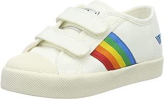 Gola Unisex-Child CKA976-OFF White/Multi Coaster Rainbow Velcro Sneaker