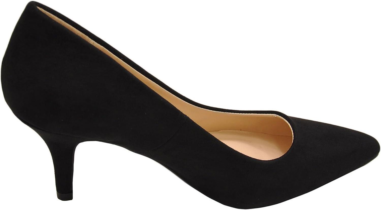 Qupidd Qupid Portia 01 Women's Faux Suede Pointed Toe Pump