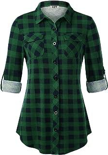 Best women's plus size plaid flannel shirts Reviews