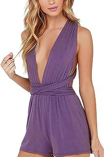 e89ac69b9d46bb Amazon.fr : Violet - Combinaisons et combishorts / Femme : Vêtements