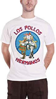 Breaking Bad Officially Licensed Los Pollos Hermanos T-Shirt (White)