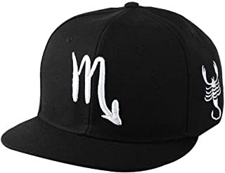 Kangqifen Men Women Baseball Caps Constellation Zodiac 12 Snapback Hats