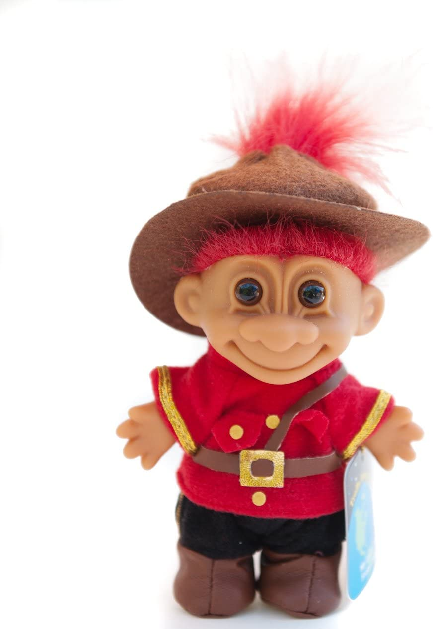 """Amazon.com: My Lucky Canada 6"""" Troll Doll - Red Hair by Russ Berrie : Toys  & Games"""