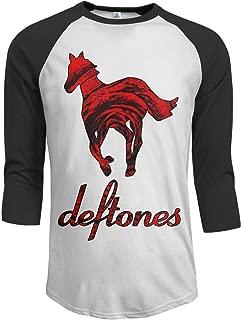 Men's Deftones 3/4 Sleeve Raglan Baseball T Shirts Black