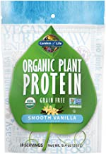 Garden of Life Organic Plant Protein Smooth Vanilla Powder, 10 Servings - Vegan, Grain Free & Gluten Free Plant Based Prot...