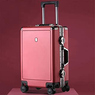 "SRY-Luggage PC Material Trolley Case, Super Storage Bag, Roller Walking Scroll Box, 20"" 24"" Inches Durable Carry on Luggage (Color : Red, Size : 20inch)"