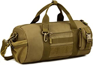 Tactical Duffle MOLLE Handbag Gear Military Travel Carry On Shoulder Bag Small Valise
